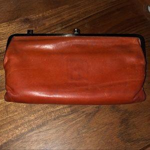 Hobo Lauren Clutch Wallet orange Leather